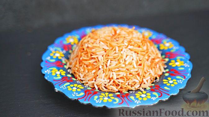 Фото к рецепту: Турецкий пилав (рис с вермишелью)