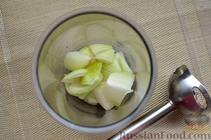 Фото приготовления рецепта: Сырный рулет с мясным фаршем (в духовке) - шаг №5