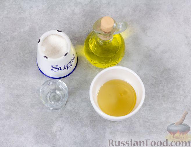 Фото приготовления рецепта: Винегрет с квашеной капустой и зелёным горошком (без моркови) - шаг №7
