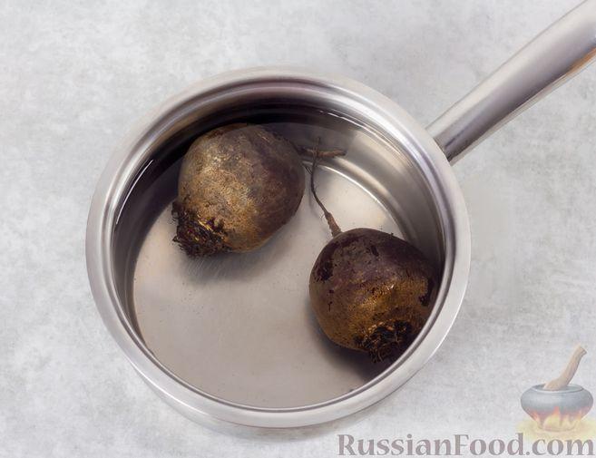 Фото приготовления рецепта: Винегрет с квашеной капустой и зелёным горошком (без моркови) - шаг №2