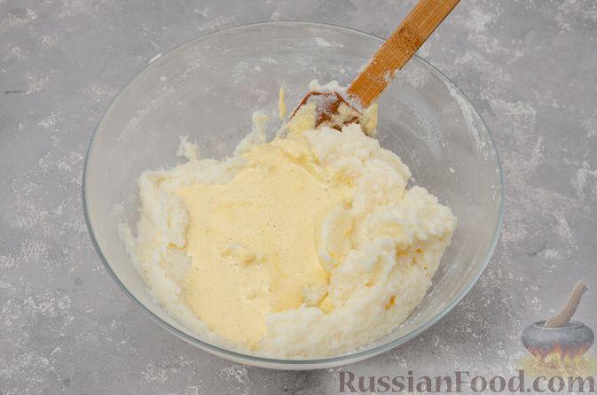 Фото приготовления рецепта: Воздушная манная запеканка на молоке - шаг №9