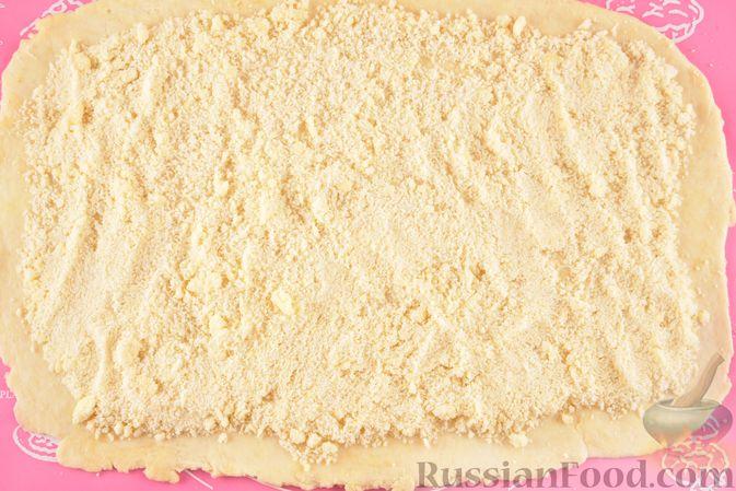 Фото приготовления рецепта: Гата с ореховой начинкой - шаг №14
