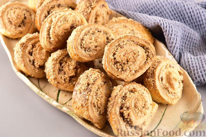 Фото приготовления рецепта: Гата с ореховой начинкой - шаг №19