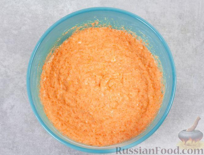 Фото приготовления рецепта: Морковный манник с рисовой мукой, на кефире - шаг №9