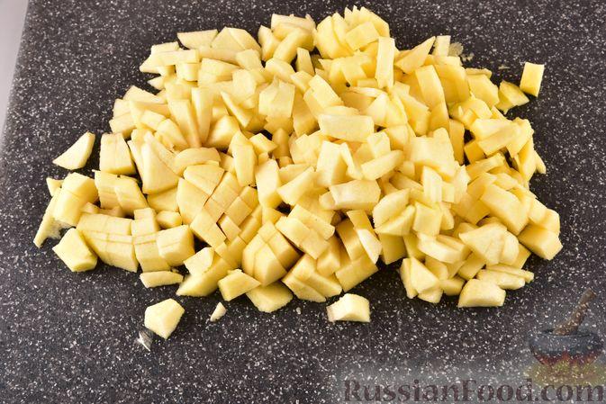 Фото приготовления рецепта: Песочные корзиночки с яблоками и меренгой - шаг №5
