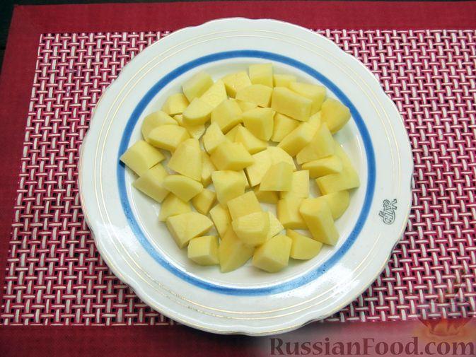 Фото приготовления рецепта: Краснокочанная капуста, тушенная с картошкой - шаг №12