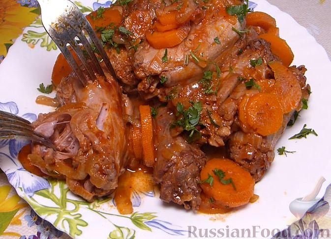 Фото приготовления рецепта: Индюшиные шейки, запечённые в томатном соусе - шаг №7