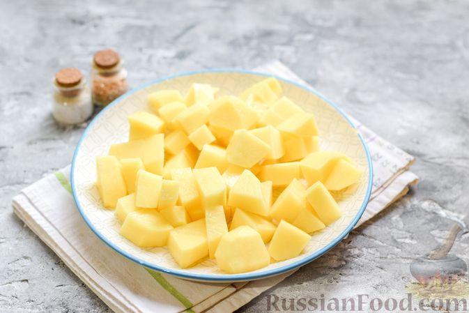Фото приготовления рецепта: Картофельное пюре с корневым сельдереем и луком - шаг №2
