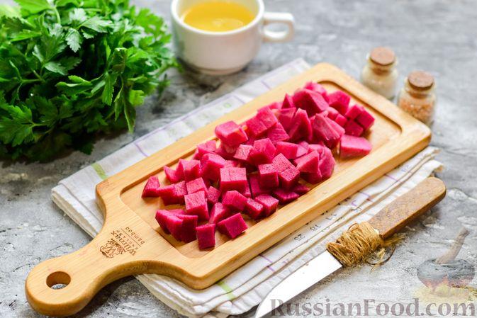 Фото приготовления рецепта: Булгур с грибами и репой - шаг №2