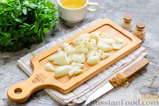 Фото приготовления рецепта: Булгур с грибами и репой - шаг №3