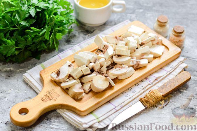 Фото приготовления рецепта: Булгур с грибами и репой - шаг №4