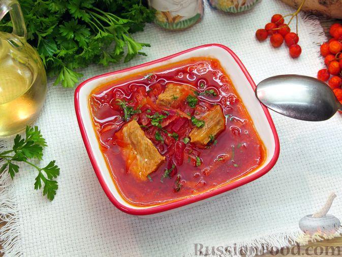 Фото приготовления рецепта: Волынский борщ - шаг №20