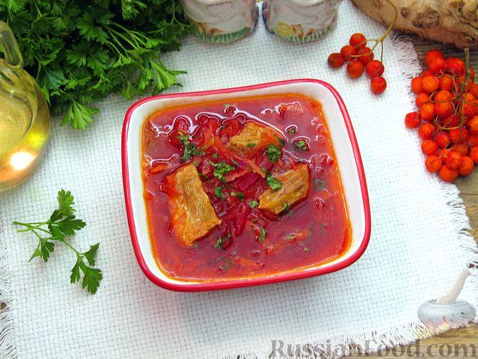 Фото приготовления рецепта: Волынский борщ - шаг №21