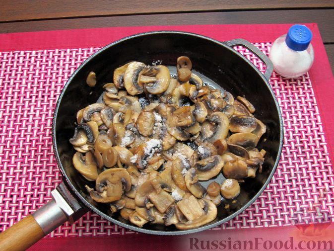 Фото приготовления рецепта: Булгур со сливочно-грибным соусом - шаг №8