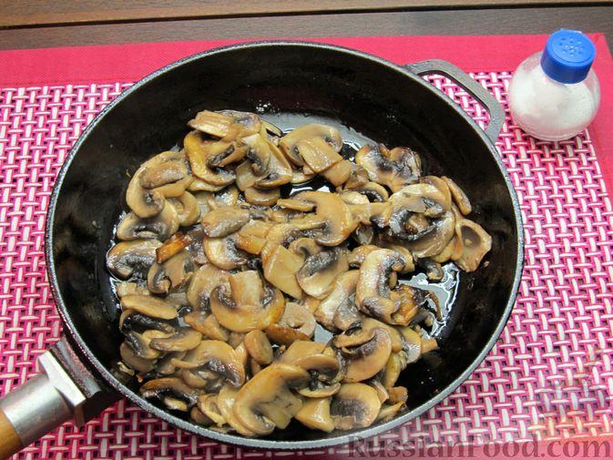 Фото приготовления рецепта: Булгур со сливочно-грибным соусом - шаг №9