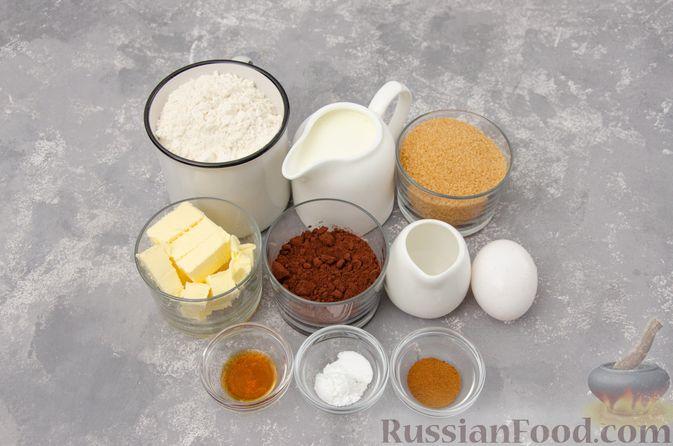 """Фото приготовления рецепта: Шоколадные пирожные """"Вупи пай"""" с сырно-сметанным кремом - шаг №1"""