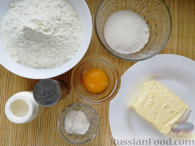 Фото приготовления рецепта: Песочное печенье с белковой глазурью - шаг №1