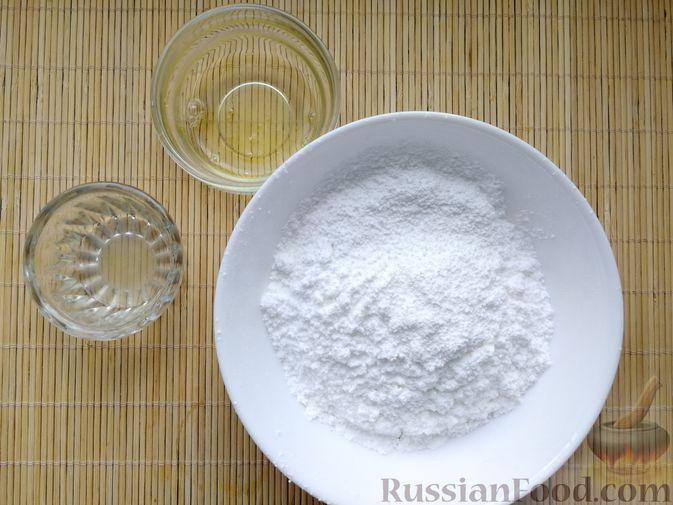 Фото приготовления рецепта: Песочное печенье с белковой глазурью - шаг №8