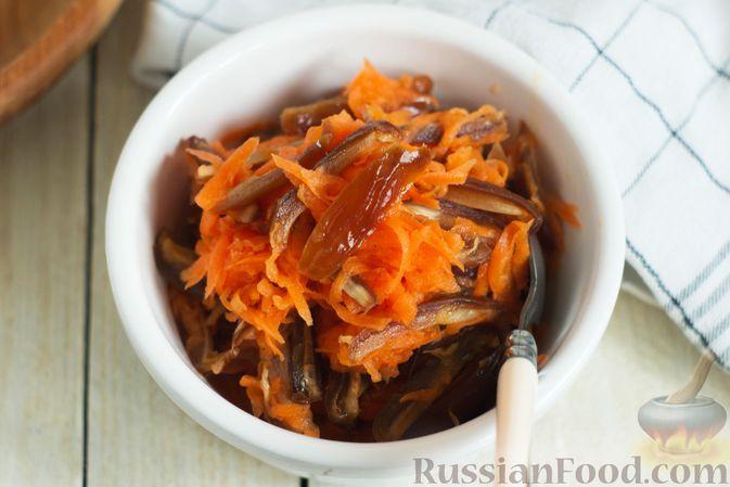 Фото приготовления рецепта: Морковный салат с финиками и медово-имбирной заправкой - шаг №7