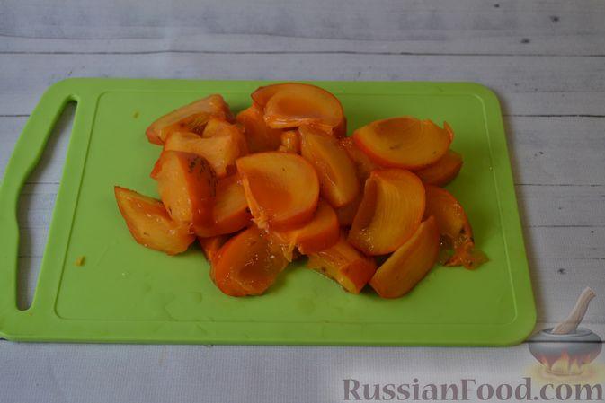Фото приготовления рецепта: Вертута с тыквой и хурмой, из цельнозерновой муки - шаг №6