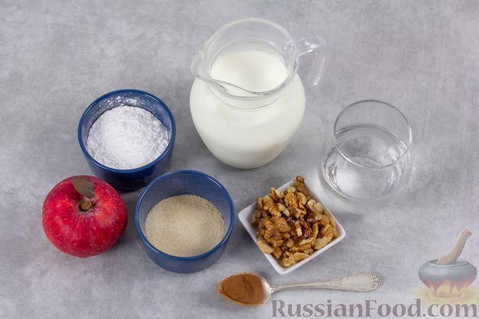 Фото приготовления рецепта: Кефирное желе с яблоками и корицей - шаг №1