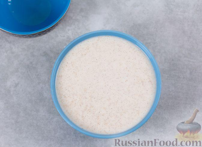 Фото приготовления рецепта: Кефирное желе с яблоками и корицей - шаг №7