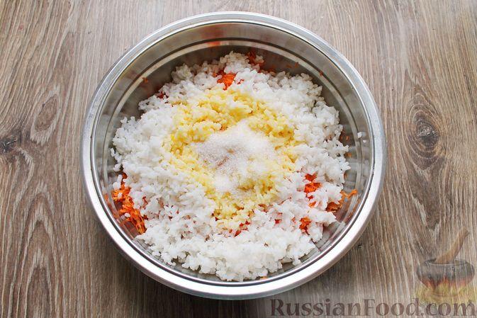 Фото приготовления рецепта: Рисовая запеканка с морковью - шаг №7