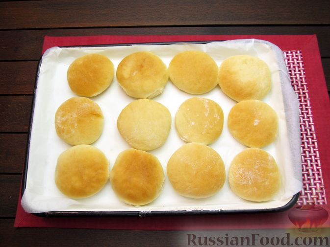 Фото приготовления рецепта: Мини-питы на молоке - шаг №11