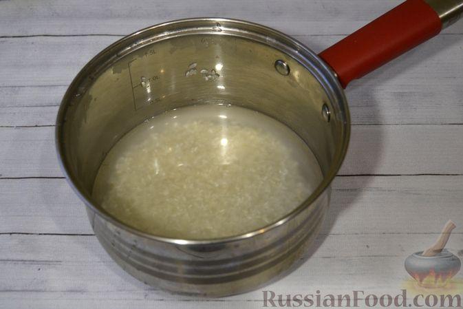 Фото приготовления рецепта: Рисовая каша со сливками и солёной карамелью - шаг №2