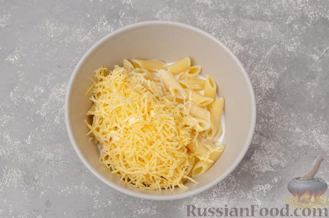 Фото приготовления рецепта: Макароны с сыром (в микроволновке) - шаг №5