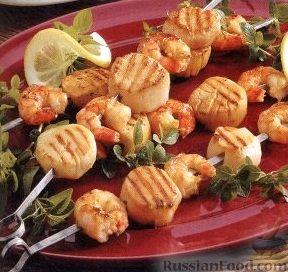 Рецепт Шашлыки из морепродуктов
