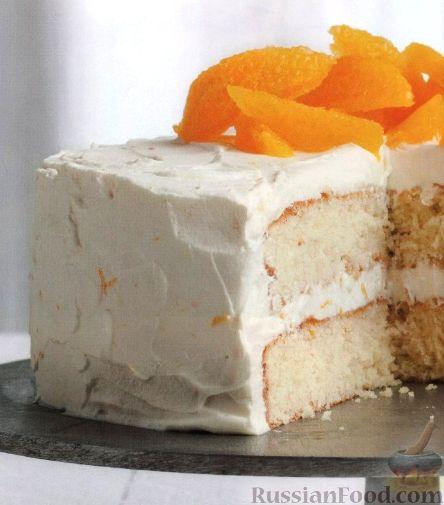 Рецепт Апельсиновый торт с нежным кремом