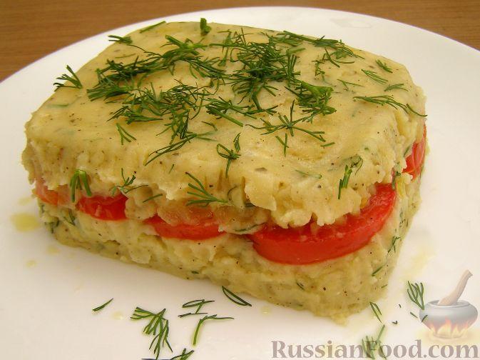 Рецепт Запеканка из картофельного пюре и помидоров