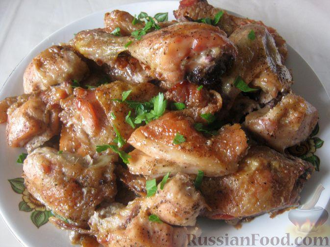 Рецепт Курица под майонезом в духовке