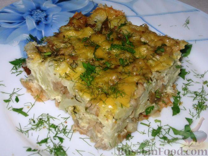 Рецепт Запеканка из цветной капусты и грибов