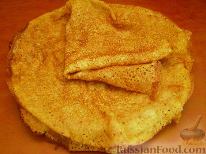 Рецепт Тонкие блины без яиц