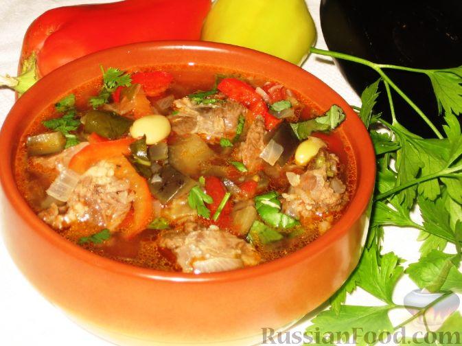 Фото к рецепту: Бозбаши из баранины с овощами