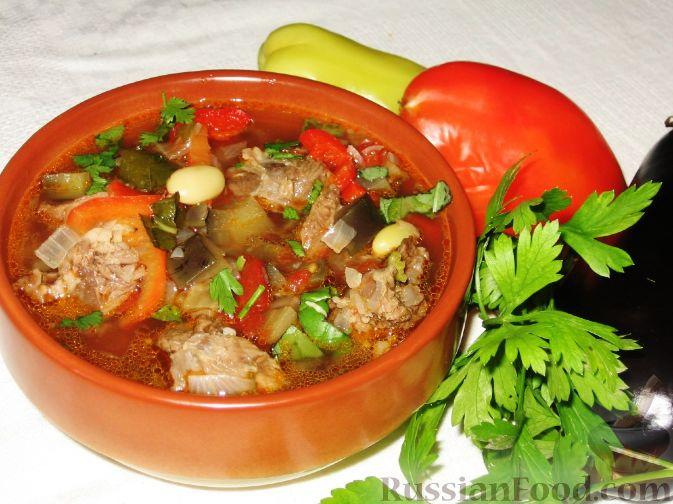 Фото приготовления рецепта: Бозбаши из баранины с овощами - шаг №5
