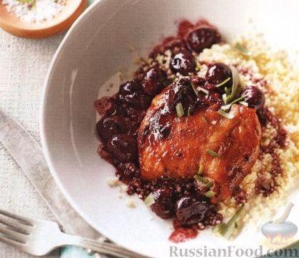 Рецепт Куриные бедрышки с вишневым соусом