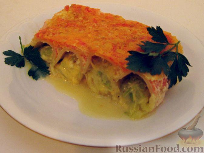 Рецепт Канеллони (макароны), фаршированные кабачком и сыром