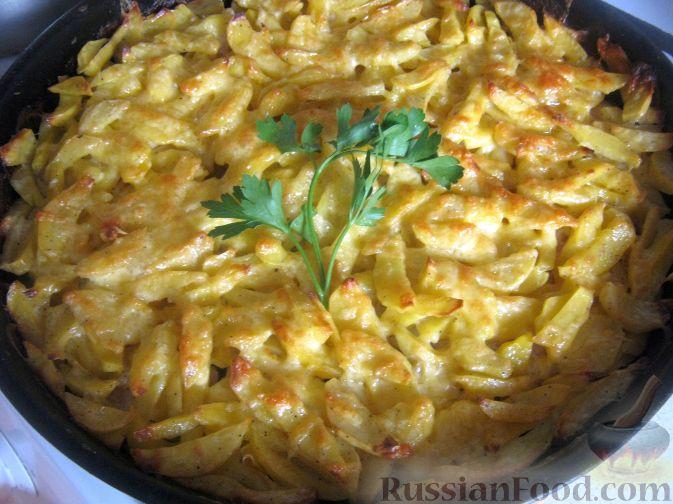 Рецепт Куриные бедрышки с картофелем, запеченные в духовке