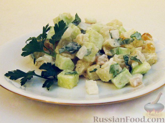 Рецепт Картофельный салат с сушеным тунцом
