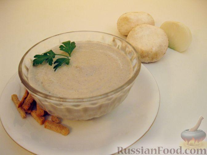 Рецепт Крем-суп из шампиньонов (в микроволновке)