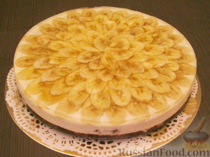 Рецепт Торт творожный с бананами