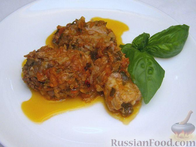 Рецепт Свиные ребрышки, тушенные с томатным соком