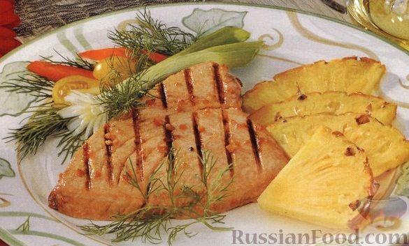 Рецепт Тунец, жаренный на гриле