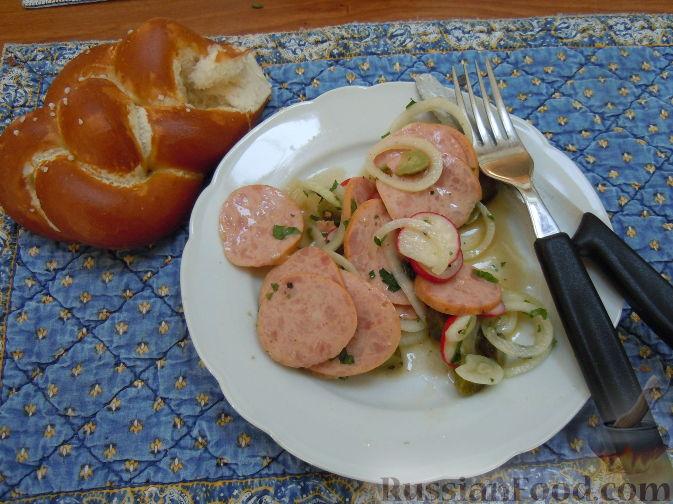 Рецепт Мясной салат (по-баварски)