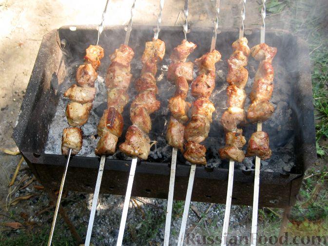 Рецепт Шашлык из свинины с чесноком