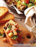 Фото к рецепту: Закусочные бутерброды с куриным филе и овощами
