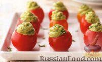 Фото к рецепту: Закусочные фаршированные помидорки-черри